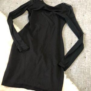 Lulu's Dresses - Lulu's Parisian nights black mesh sleeve bodycon S